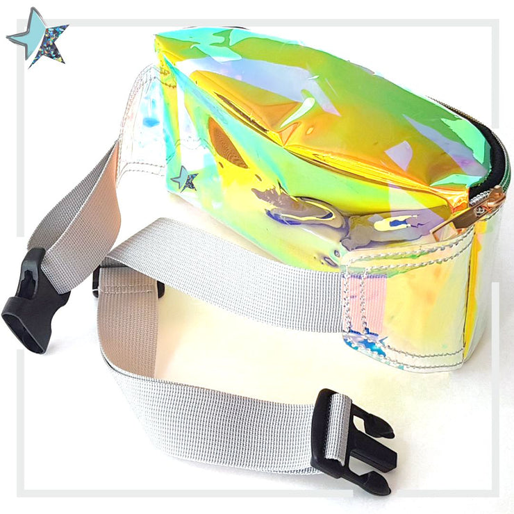 Silver Iridescent Clear Fanny Pack - Starlight