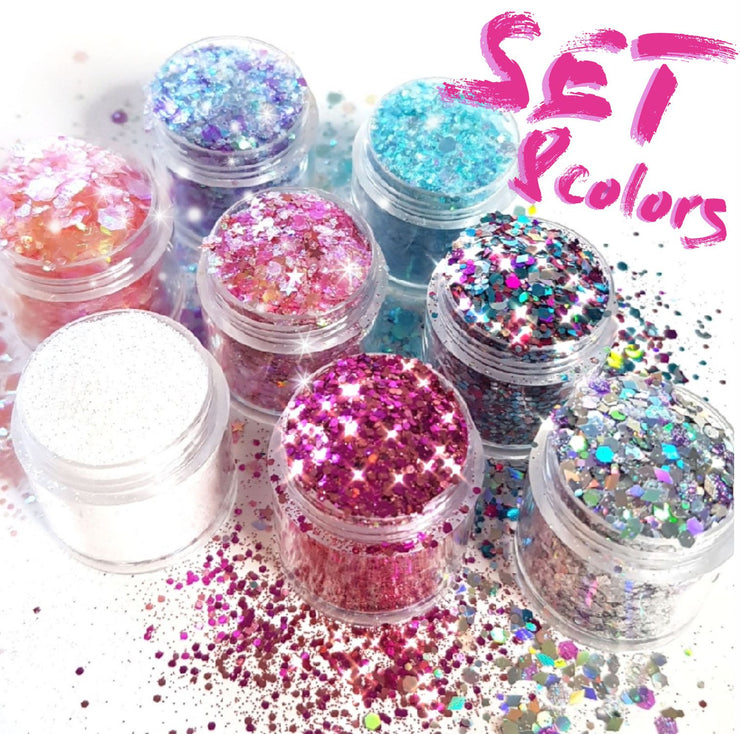 Hawaii Chunky Glitter Set - Starlight