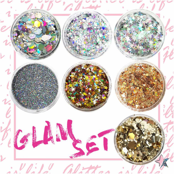 Glam Chunky Glitter Set - Starlight
