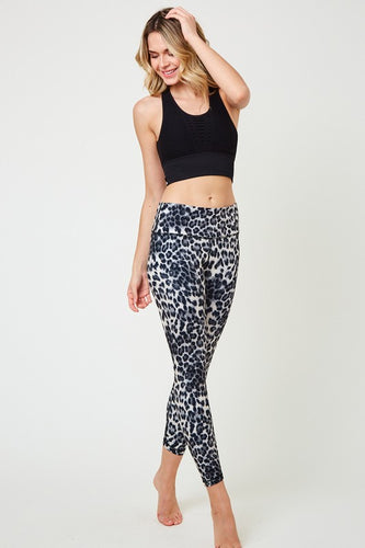 Snow Leopard Print Leggings