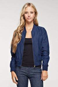 Navy Bomber Jacket