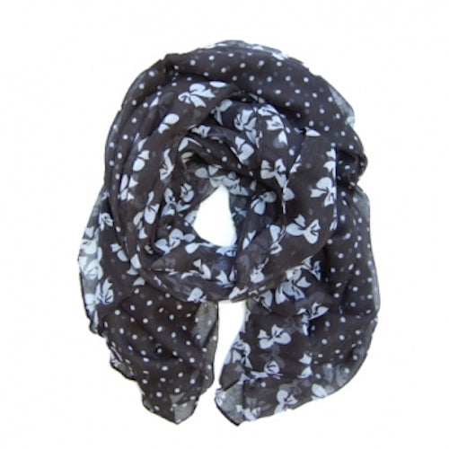Black Patterned Scarf