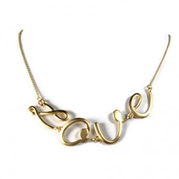 Love Gold Necklace