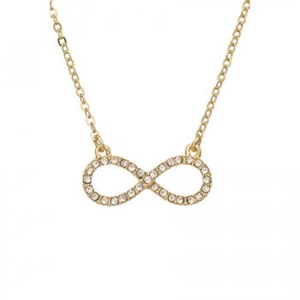 Rhinestone Infinity Necklace
