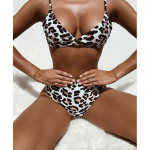 Leopard High Waist Bikini Swimsuit