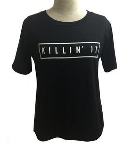 Killin It Cotton Tee White