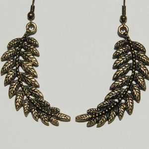 Antiqued Leaf Earrings