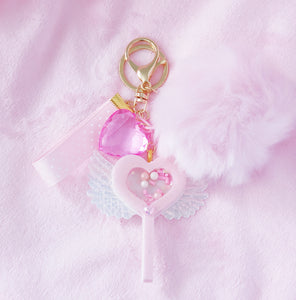 Shaker Lollipop Faux Fur Charm - LoveAprilMoon