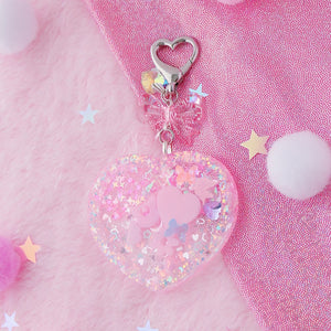 Large 90's Heart Shaker Charm
