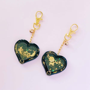 Galaxy Heart Shaker Charms