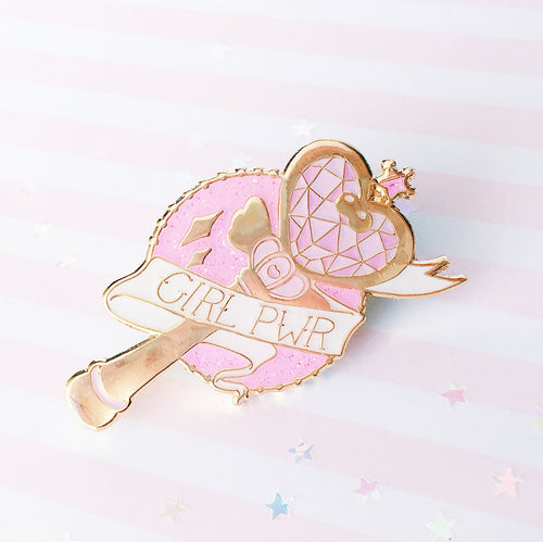 Girl Pwr Wand Pin - LoveAprilMoon