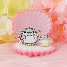 Frog Tea Cup Pin Set