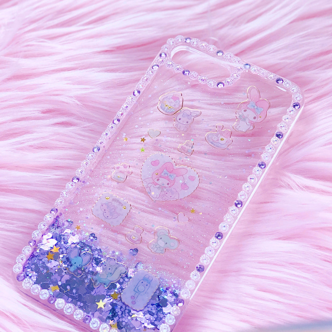 Melody Falling Glitter iPhone 7+ case