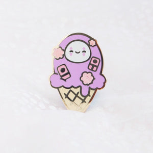 No Face Ice Cream Pin