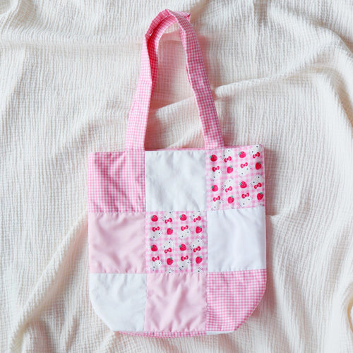 Pink Patch Quilted Tote Bag