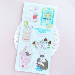 Kawaii Munchies Sticker Sheet - LoveAprilMoon