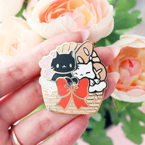 Cat Bakery Basket Pin