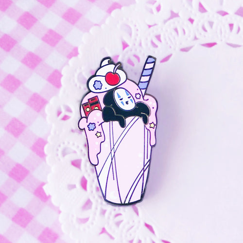 No Face Milkshake Pin