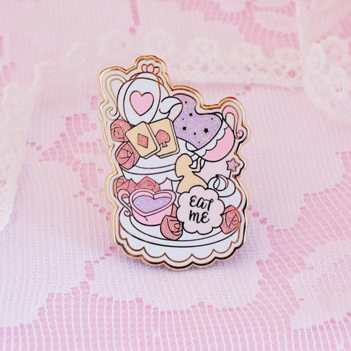 Wonderland Tea Party Pin - Glitter Variant