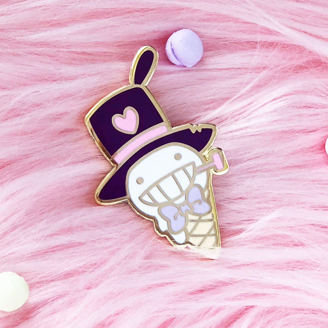 Turnip Head Ice Cream Pin