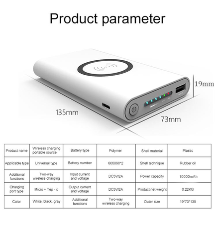 Wireless SUPERFAST Powerbank 3 în 1