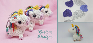 Custom unicorn keyring