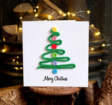 Luxury Christmas Tree Christmas Card - Handmade