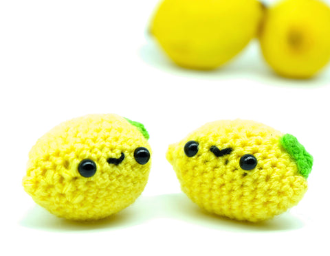 Lemon Amigurumi Keyring - Kawaii Miniature