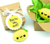 """I could just squeeze you"" personalised care package friendship lemon gift box"