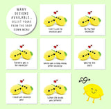 'I can't wait to squeeze you!' Cute lemon greetings card