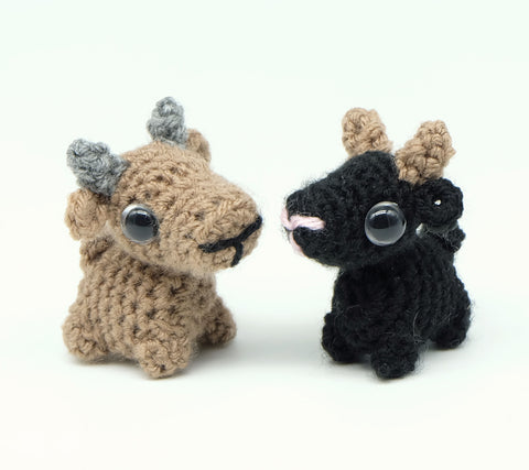 Goat keyring/keyfob - Handmade Crochet Stuffed Animal
