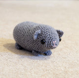 Guinea Pig Plush - Handmade Crochet Stuffed Animal Toy.
