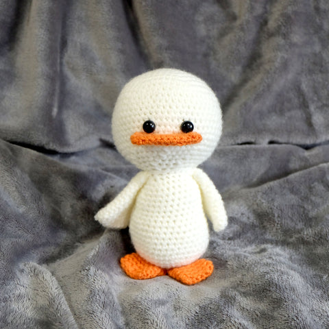 Duckling Plush - Handmade Crochet Stuffed Animal Toy.