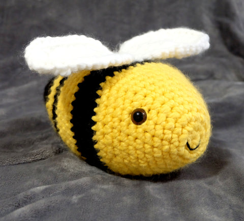 Giant Bumble Bee Plush. Handmade Stuffed Animal Toy.