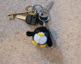 Penguin Keyring Plush - Handmade Crochet Stuffed Animal Toy