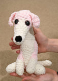 Whippet/Greyhound dog cuddly Plush - Handmade crochet custom stuffed animal toy.