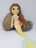 Mermaid Plush Doll - Handmade Crochet Stuffed Toy