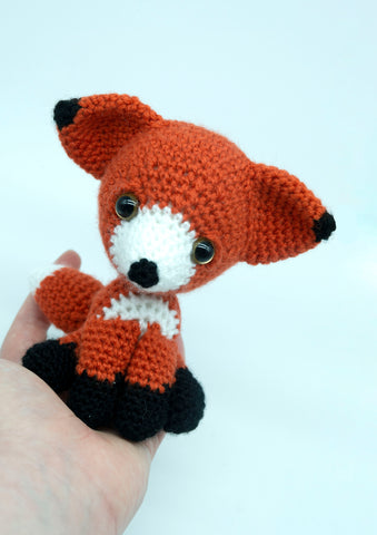 Fox Plush - Handmade Crochet Stuffed Animal Toy.