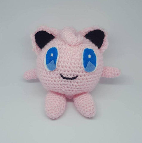 Pokemon Jigglypuff Plush - Handmade Crochet Amigurumi Stuffed Toy