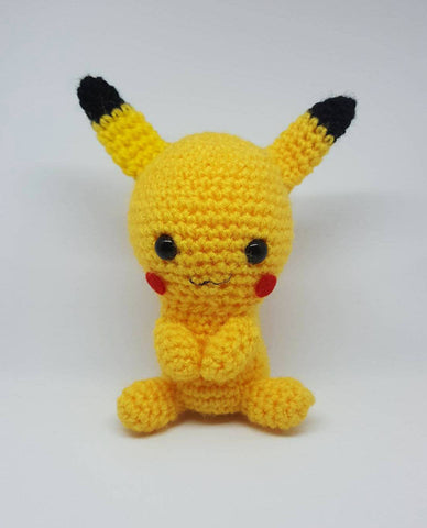 Pokemon Pikachu Plush - Handmade Crochet Amigurumi Stuffed Toy