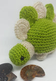 Dinosaur Stegasaurus Jurassic Plush - Handmade crochet stuffed toy animal.
