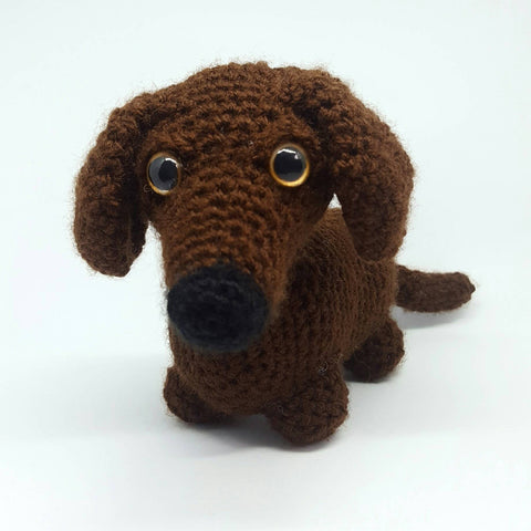 Dachshund Sausage Dog Plush/Stuffed Toy - Handmade Crochet Animal.
