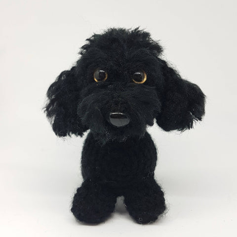 Miniature Poodle Dog Plush - Handmade Crochet Stuffed Toy Animal