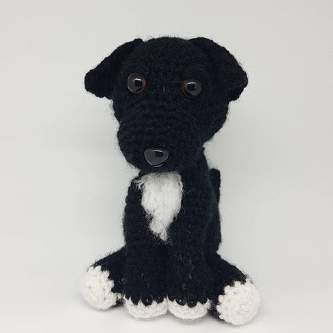 Patterdale Terrier Plush Crochet Handmade Stuffed Toy