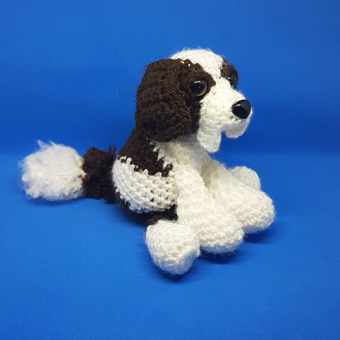 Saint Bernard Dog Plush -  Custom Handmade Crochet stuffed animal toy.