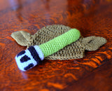 Baby Yoda Hat and Lightsaber Rattle - handmade crochet star wars jedi gift bundle.
