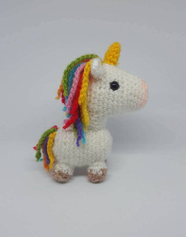 Unicorn Plush - Handmade Crochet Stuffed Animal Toy Doll