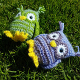 Owl Plush - Handmade crochet stuffed animal toy/decoration.