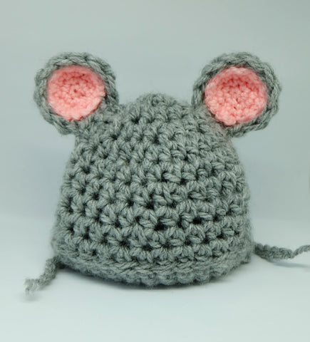 Mouse Baby Hat - Dress Up/ Photo Prop Gift