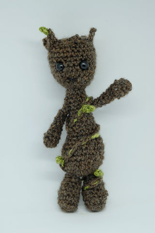 Baby Groot Plush - Handmade crochet Guardians of the Galaxy stuffed toy.